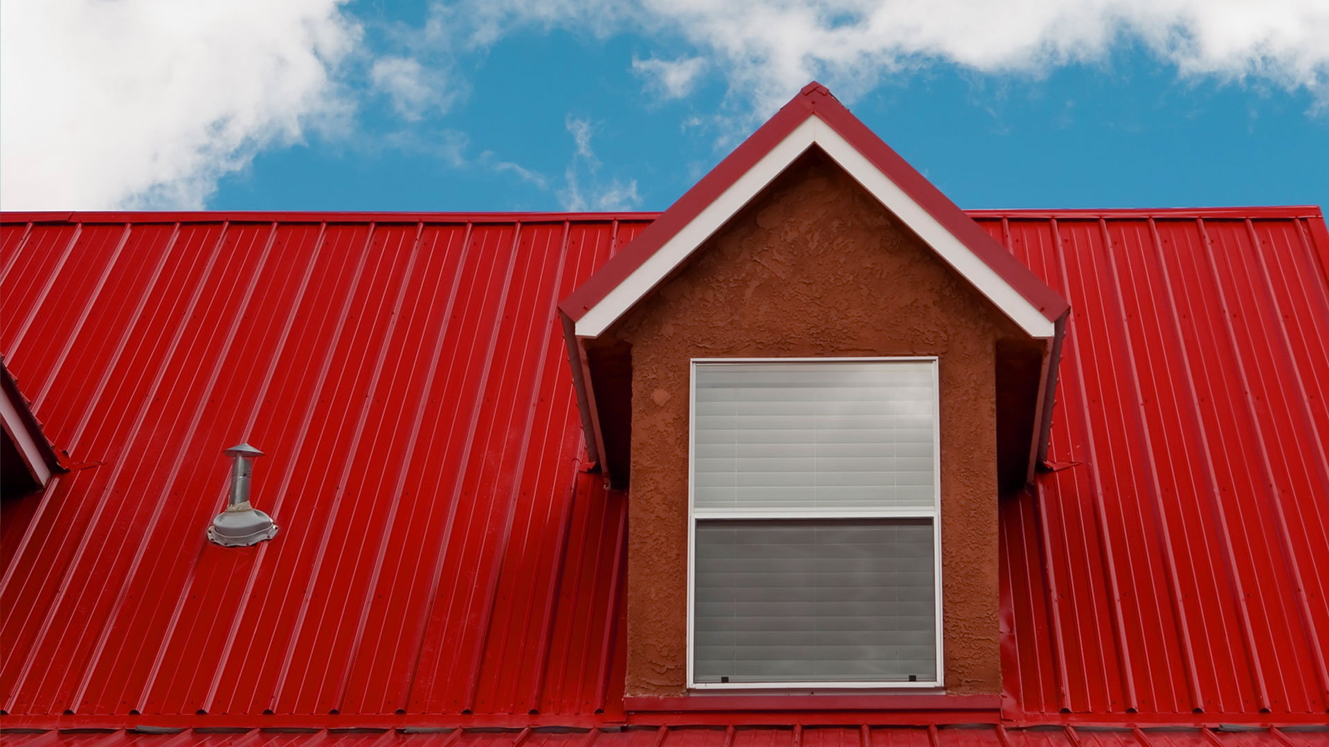 Red Roof With Asphalt Shingles